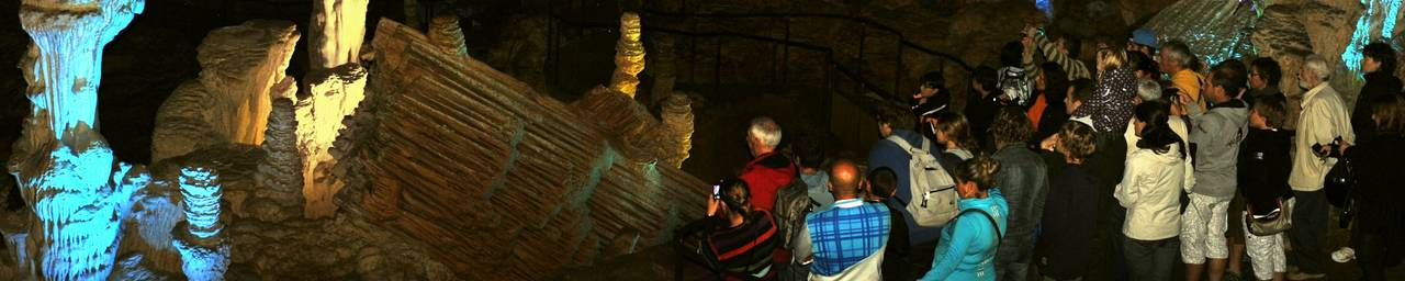 A group in the Grotte