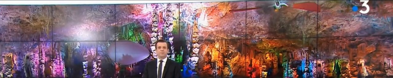 Tournage dans la Grotte